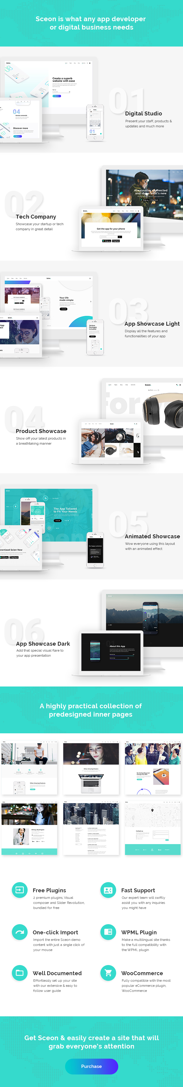 Sceon - App Landing Page & Startup Theme - 1